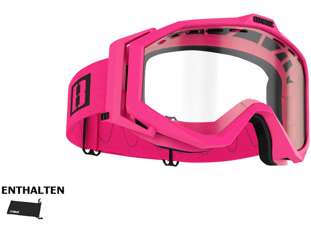 Bliz Edge Drop Glasses matte pink/clear